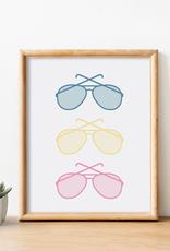Cardinal Directions CD Sunglasses Print