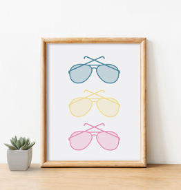 Cardinal Directions CD Sunglasses Print