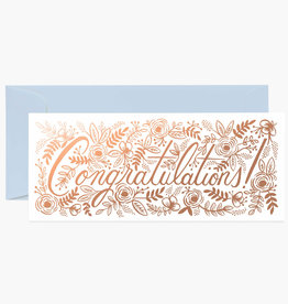 Champagne Floral Congrats No 10 Card