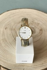 Cluse Minuit Gold/White Gold Metallic Watch