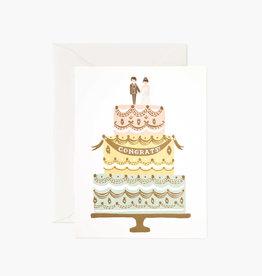 Congrats Wedding Cake Card