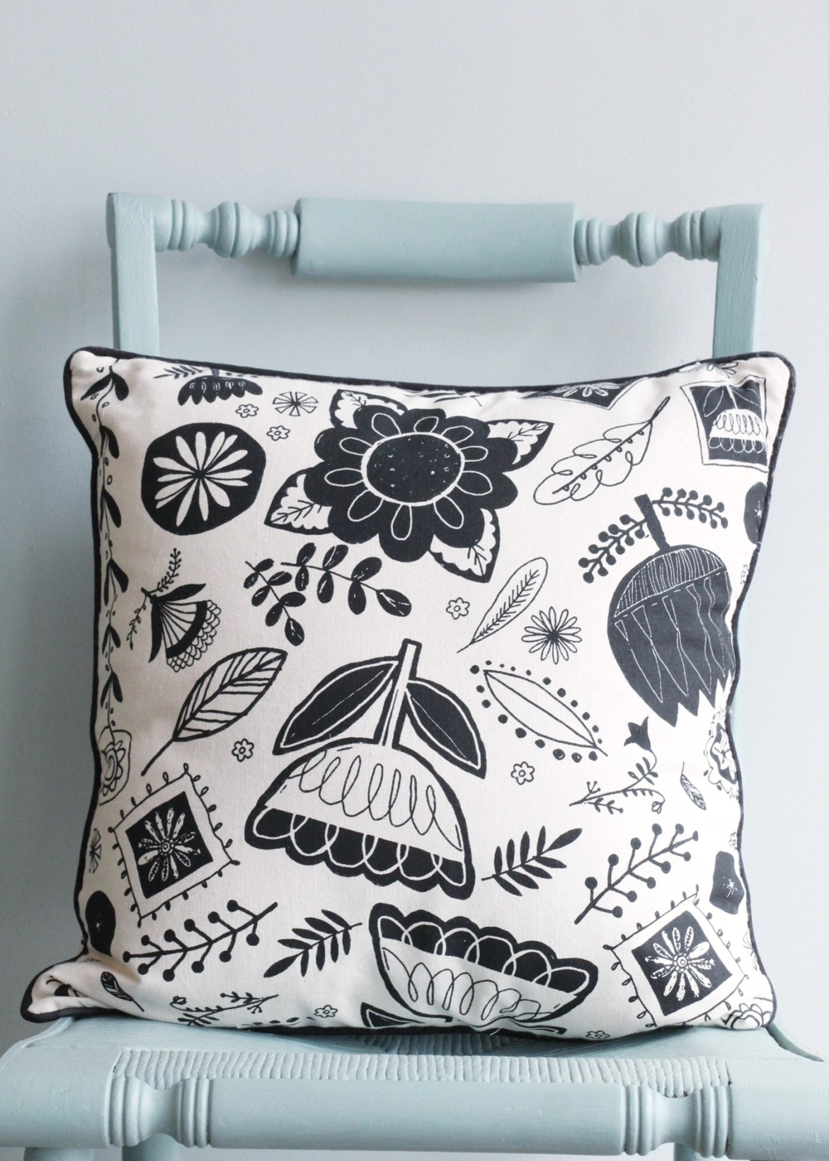 Cotton Pillow with Rabbit