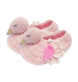 Crochet Flamingo Booties