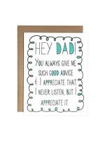 Chateau Blanche Dad Advice Card