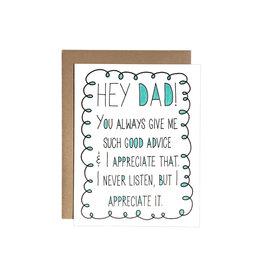 Chateau Blanche Dad Advice Card