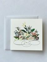 Daisy Flower Swirl Mini Card