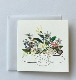 Karen Adams Daisy Flower Swirl Mini Card