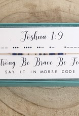 Dot and Dash Joshua 1:9 Necklace