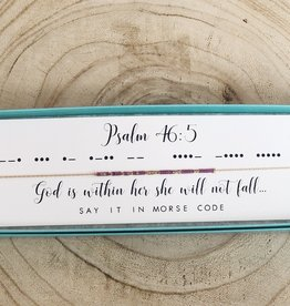 Dot and Dash Psalm 46:5 Necklace