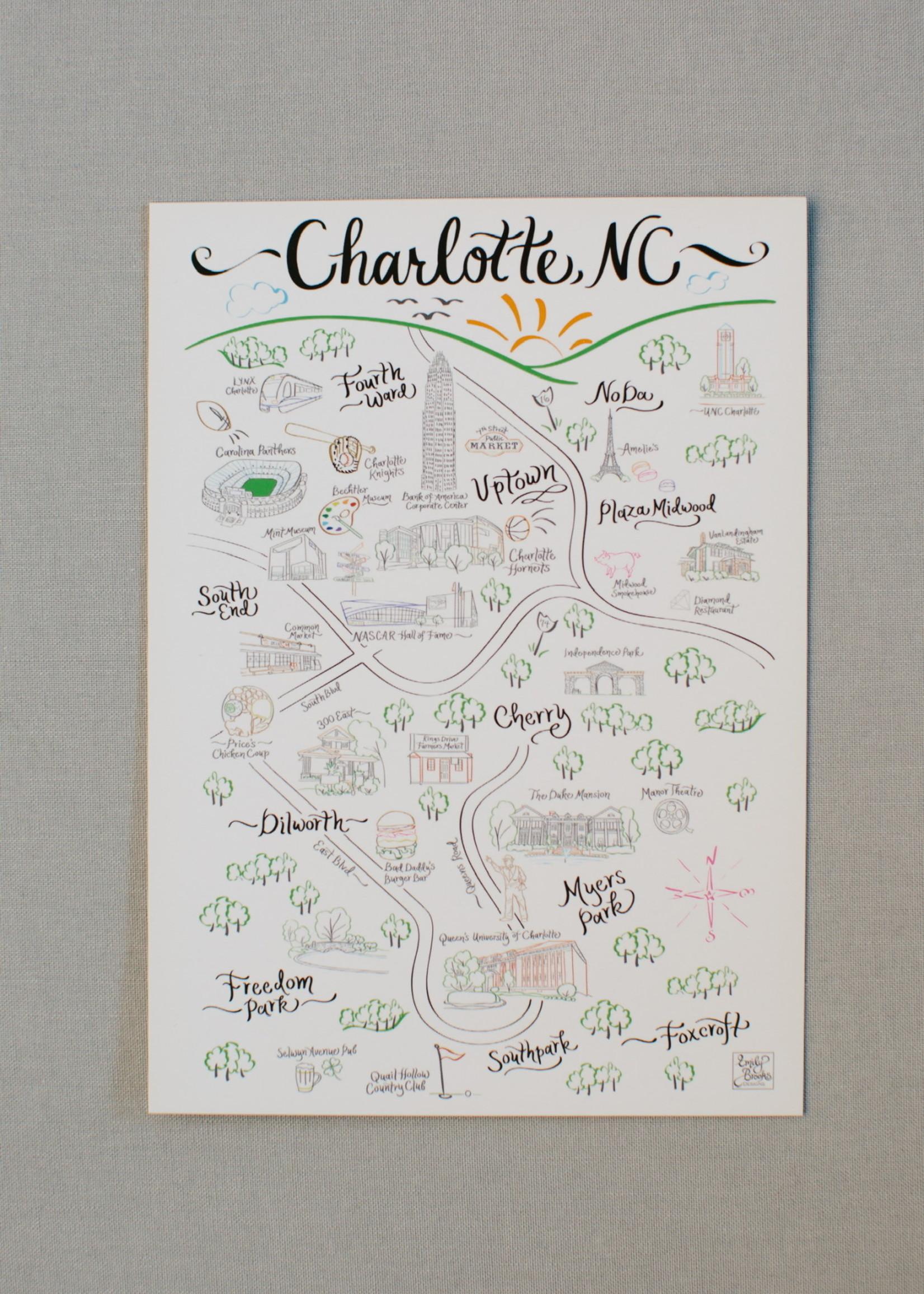 Emily Brooks EB City Map Print