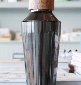 Onyx and Wood Cocktail Shaker