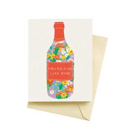 Seltzer Fine Wine Love Card