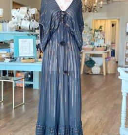 Obsidian Stripe Maxi Dress