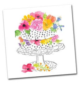 Floral Cake Napkins