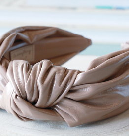 Nude Leather Knot Headband