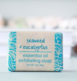 Greenwich Bay Trading Company GBTC Seaweed Eucalyptus Wrapped Soap