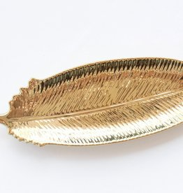 Gold Feather Tray