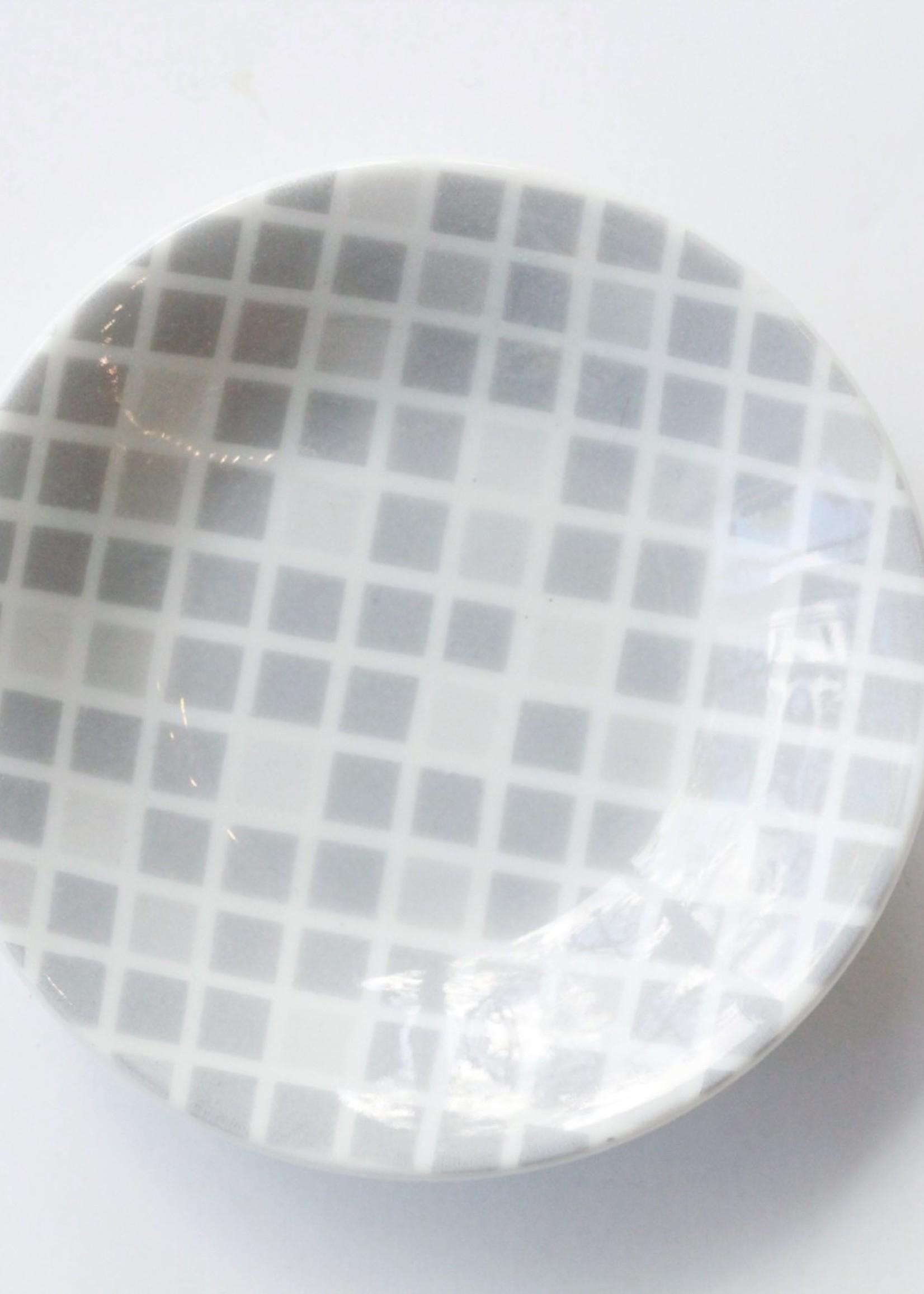 Grey and White Geo Dish