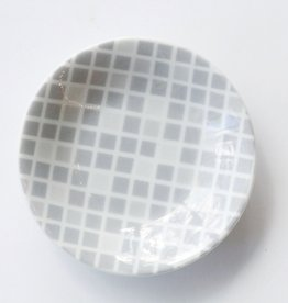 Grey and White Geo Dish