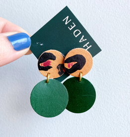Haden Haden Dottie Earrings - Painted Palm