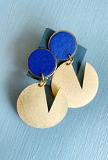 Haden Haden Pac Dot Earrings-  Blue Stud