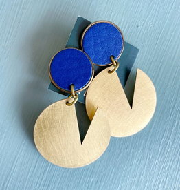 Haden Haden Pac Dot Earrings-  Blue Stud