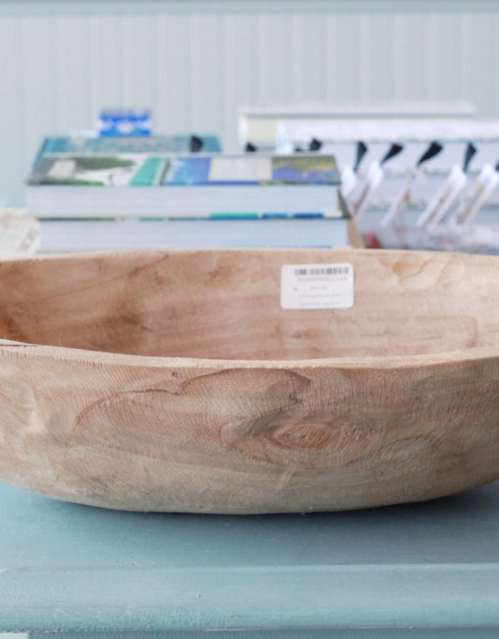 Hammered Wood Bowl