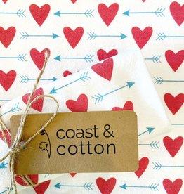 Hearts and Arrows Tea Towel
