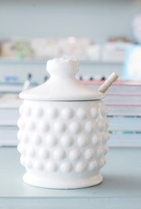 Hobnail Honey Jar