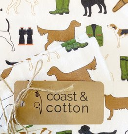 Hunting Dogs Tea Towel