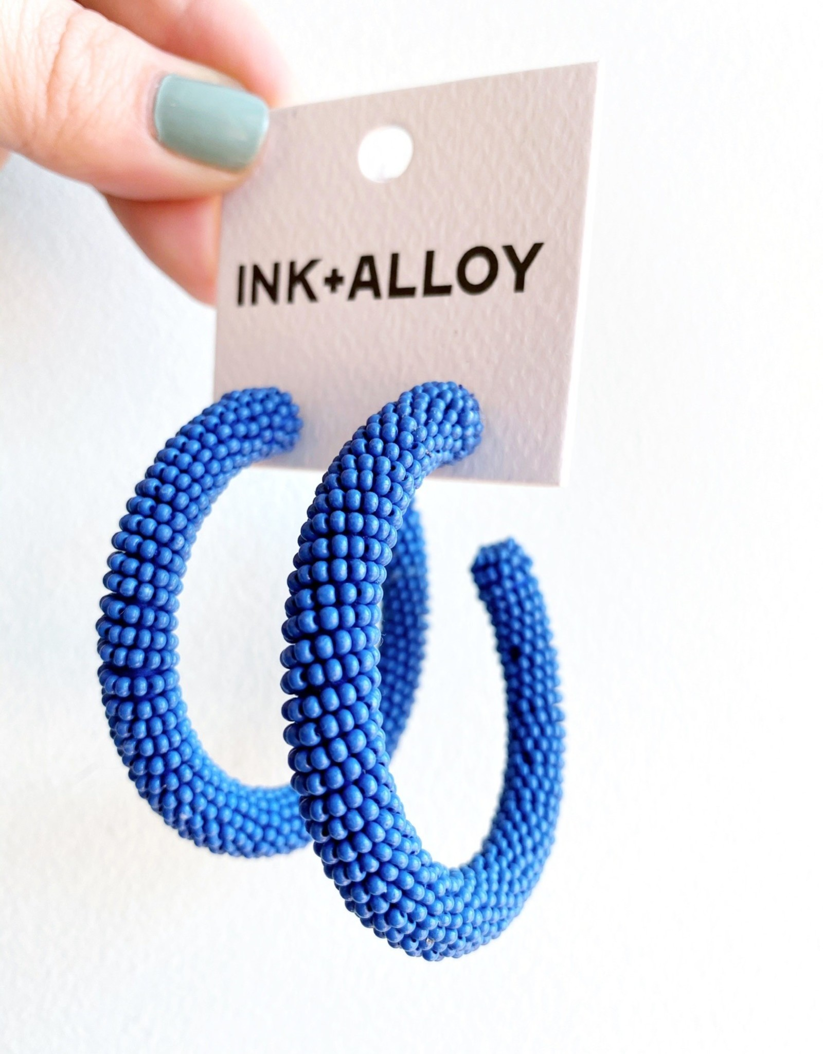 Ink + Alloy Lapis Hoops 2.5