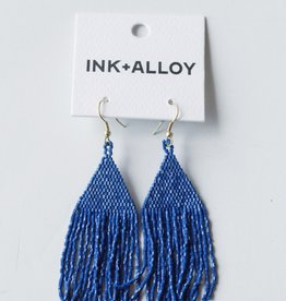 Ink + Alloy Lapis Luxe Petite Fringe Earrings