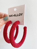 Ink + Alloy Red Hoops 2.5
