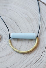 Ink + Alloy Sky Ceramic and Brass Necklace
