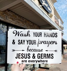 Jesus and Germs Wall Sign