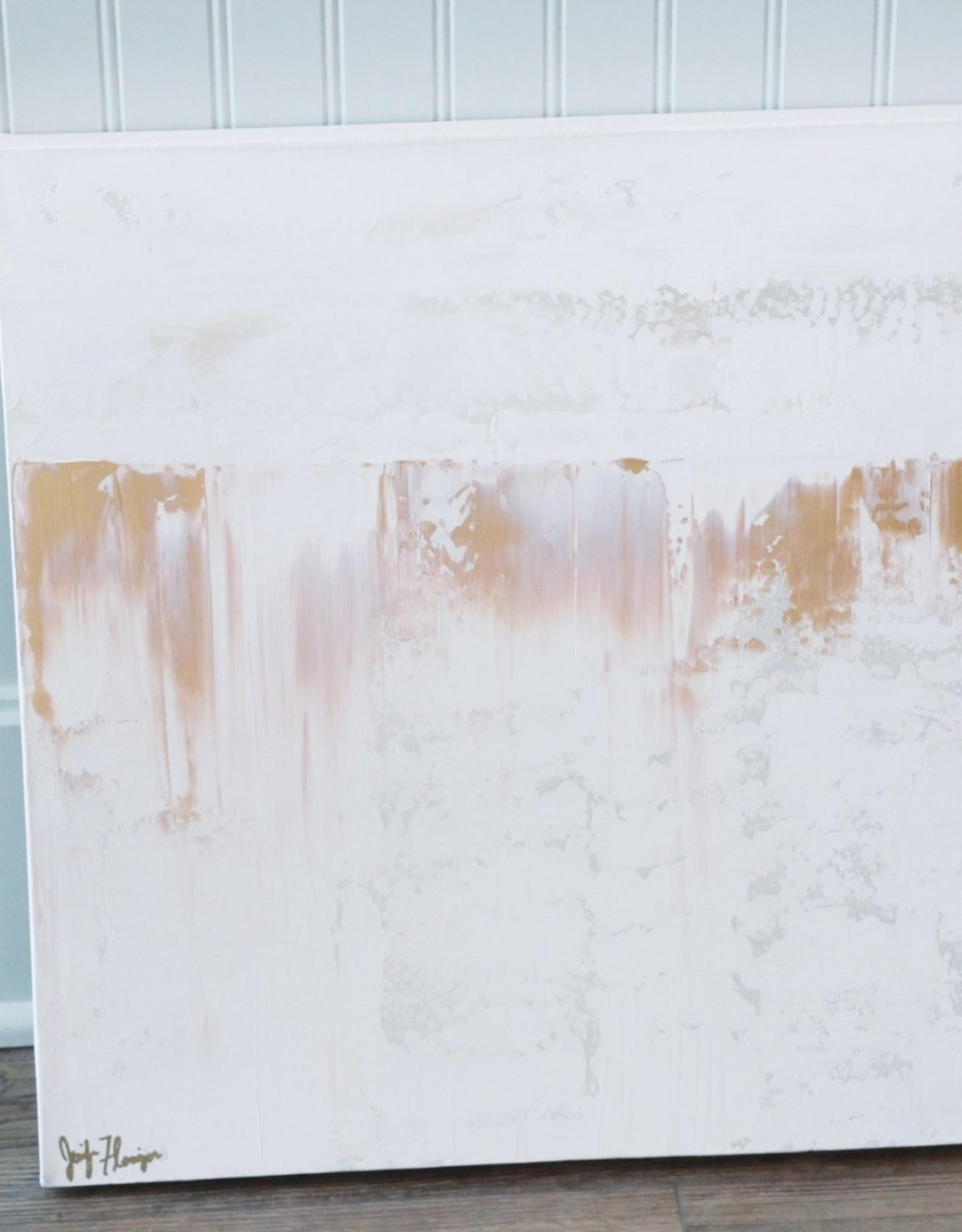 Jennifer Flannigan JF Original Artwork- Gold & White
