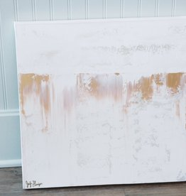 Jennifer Flannigan JF Original Artwork- Gold & White