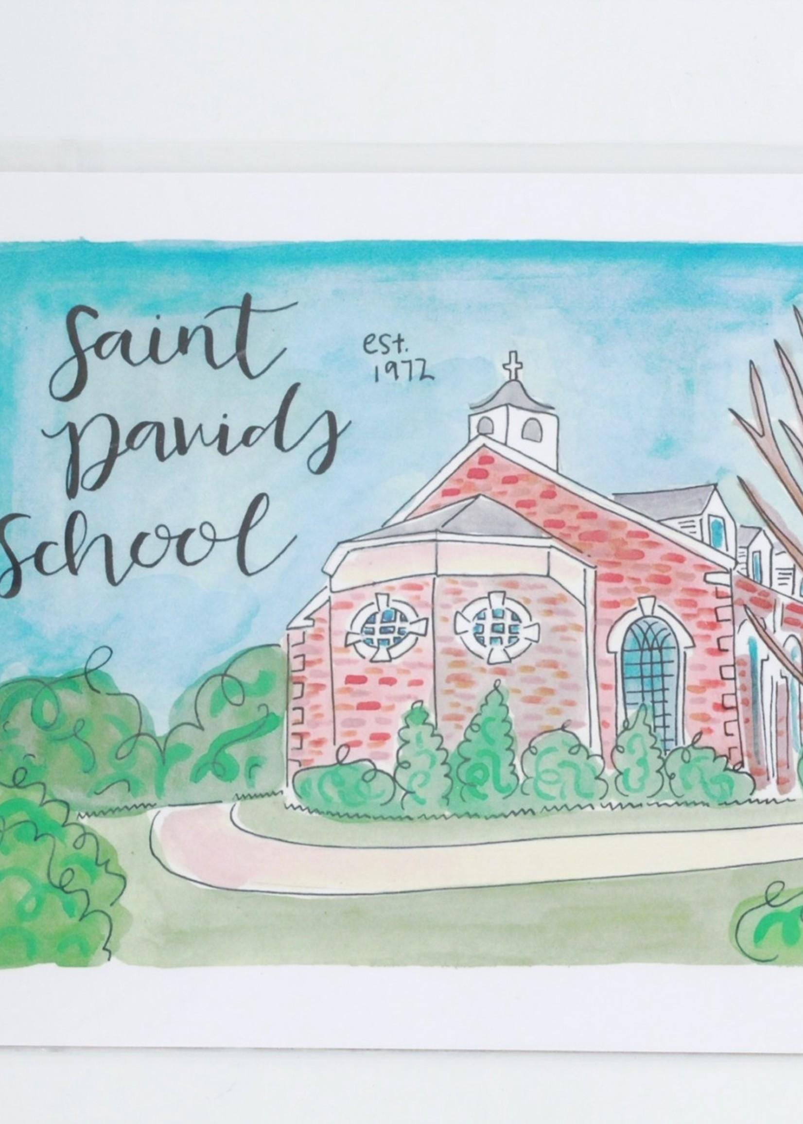 Julia Hall McQueen JHMQ St David's School Print