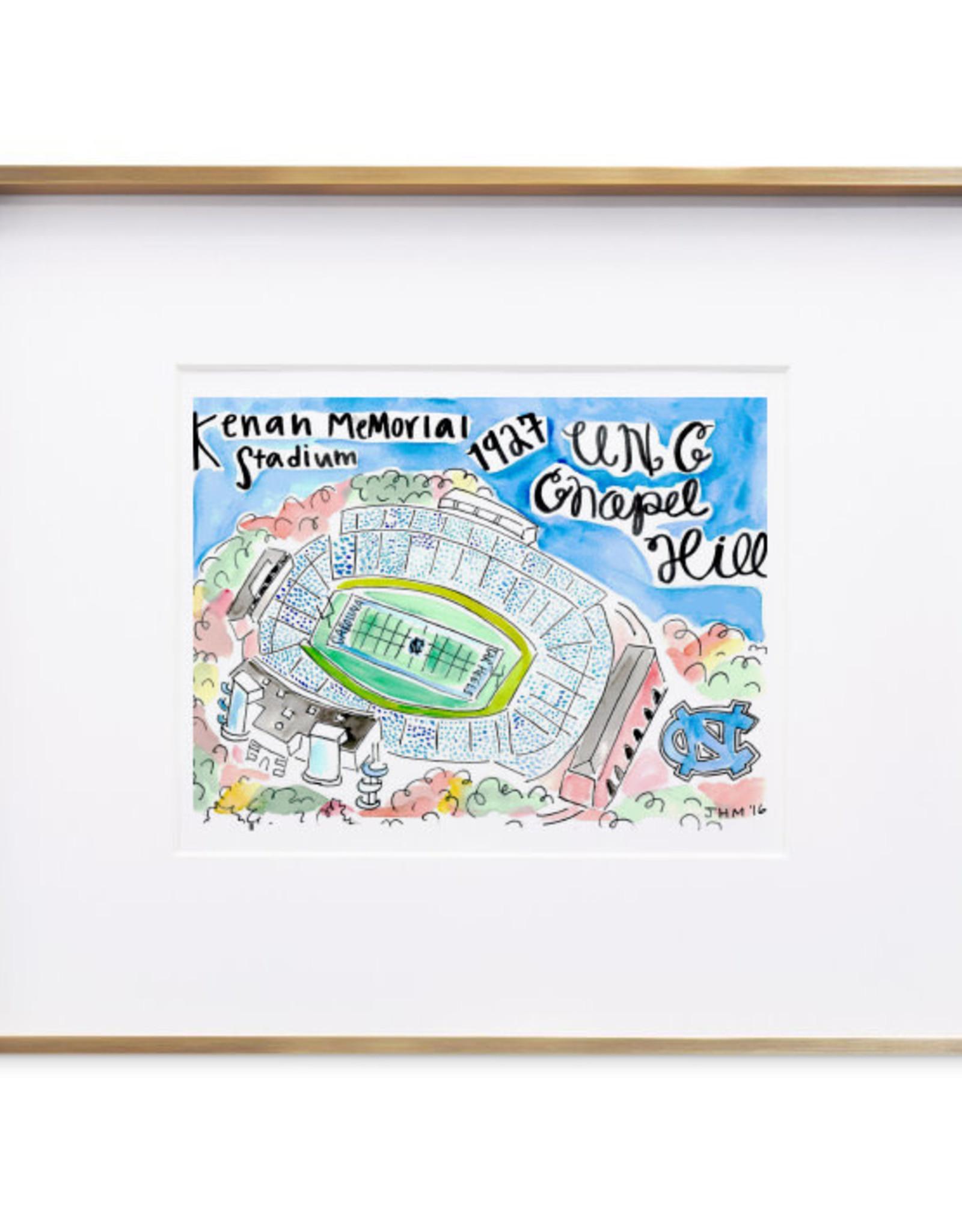 Julia Hall McQueen JHMQ UNC Keenan Stadium Print