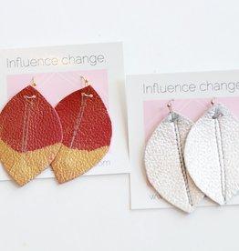 Designed for Joy DFJ Mini Feather Earrings