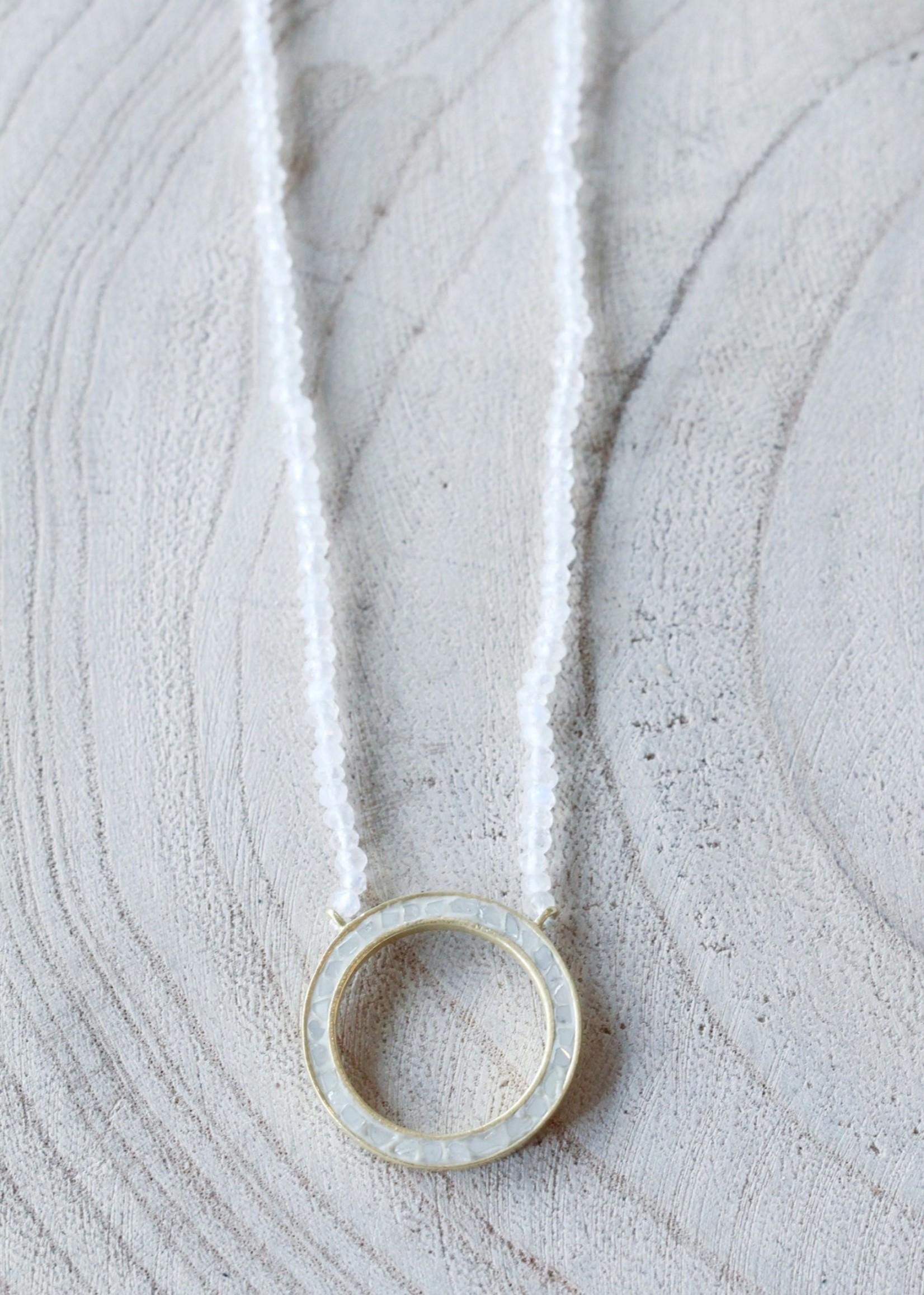 Joya Ellen Deco Diamond Necklace- White