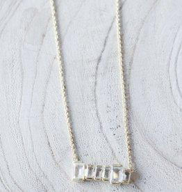 Joya Firenze Necklace- Clear