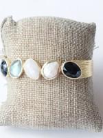 Joya Majorca Cuff Bracelet Black Onyx