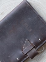 Leather Beer Log- Dark Brown