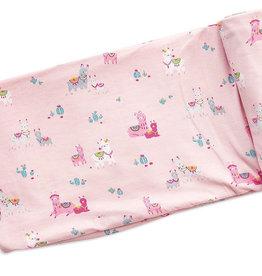 Llama Pink Swaddle