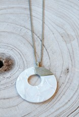 Lucite Circle N124 Necklace