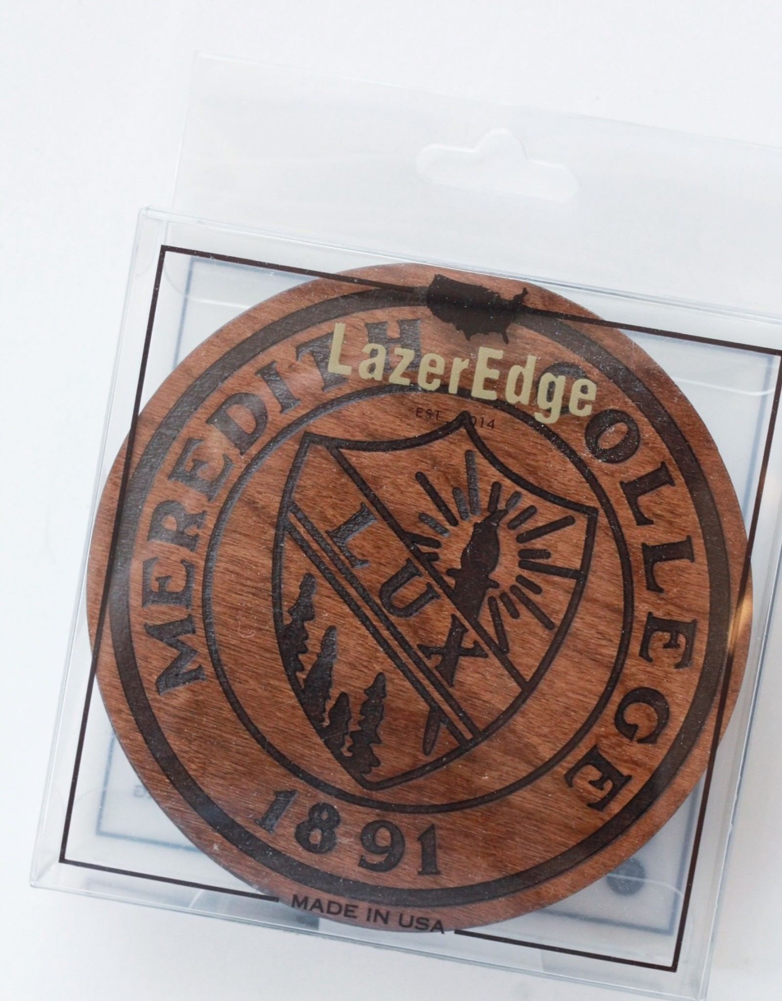 LazerEdge Meredith College Seal Coasters