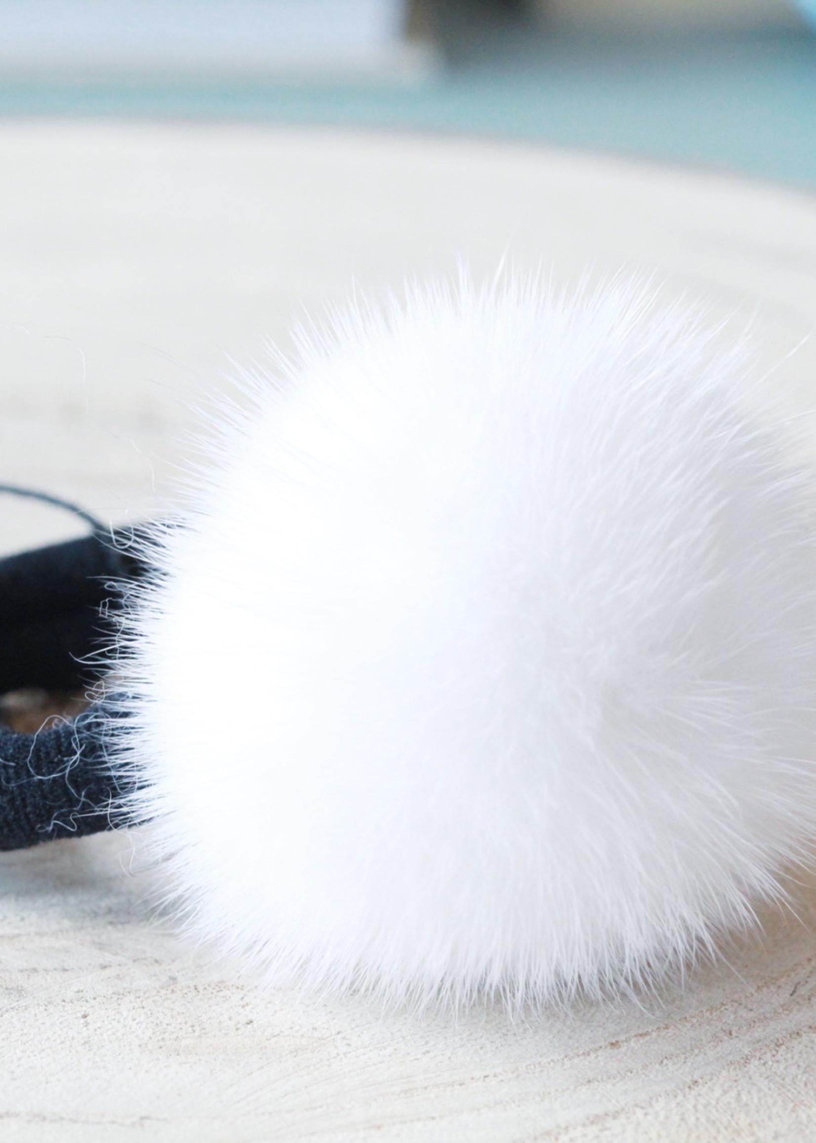 Mink Pom Hairtie