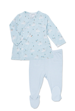 Baby Bunny Kimono Top and Footie 0-3M