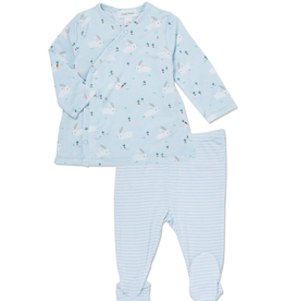 Baby Bunny Kimono Top and Footie 0-3M